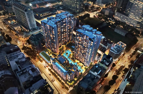 The M Aerial View_Night