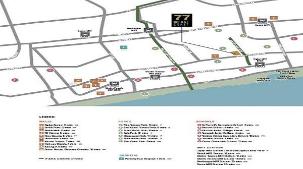 77@East Coast site map