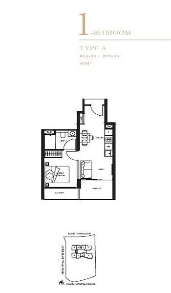 The Linq 1 Bedroom Floor Plan