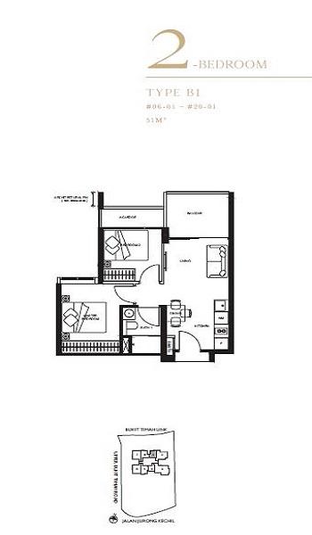 The Linq 2 Bedroom Floor Plan