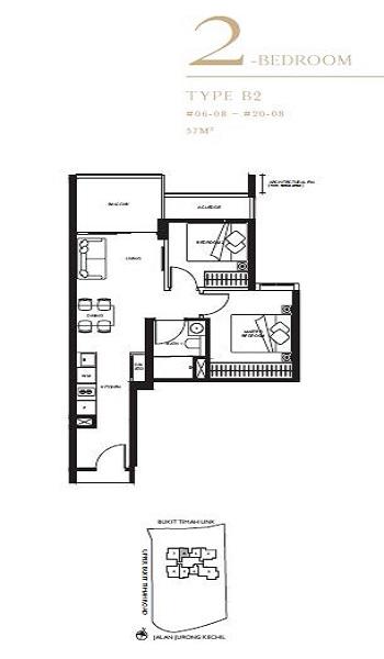 The Linq 2A Bedroom Floor Plan