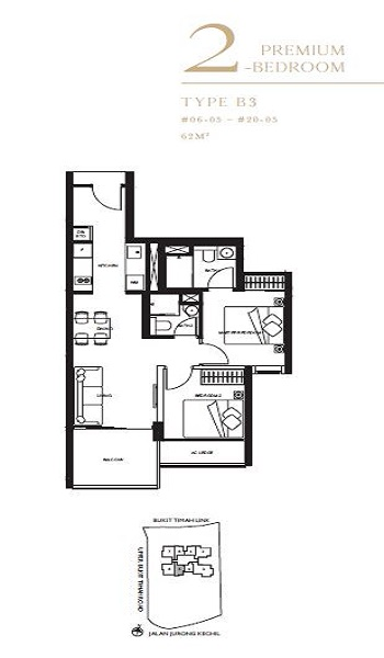 The Linq 2P Bedroom Floor Plan