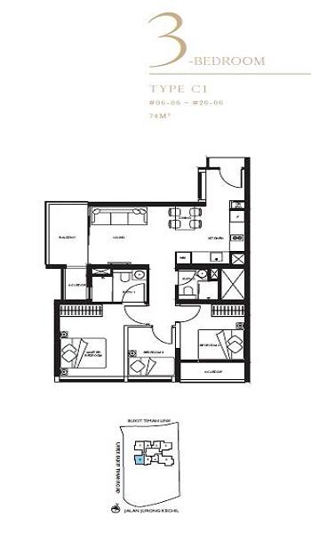 The Linq 3 Bedroom Floor Plan