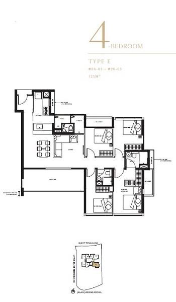 The Linq 4 Bedroom Floor Plan