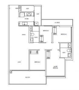 Treasure@Tampines 4 Bedroom Floor Plan