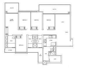 Treasure@Tampines 5 Bedroom Floor Plan