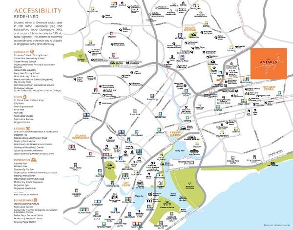 Antares Location Map