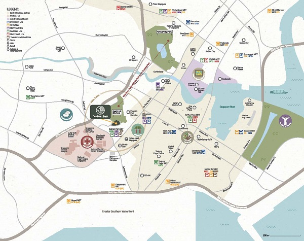 One Pearl Bank location plan